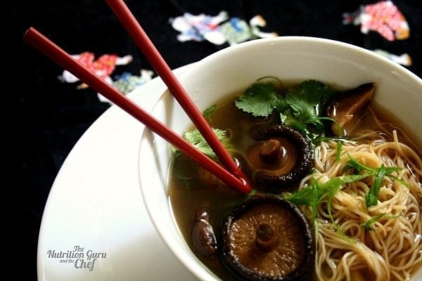 Shiitake and Ginger Broth