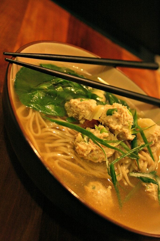 Chinese Chicken Dumpling Soup