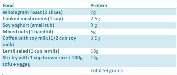 protein in vegetarian diet