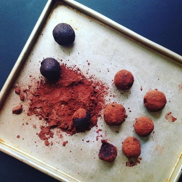 Sweet POtato and Chocolate truffles